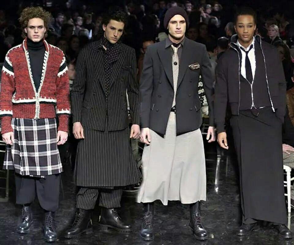 Pin By Jim Cadena On Alternative Fashion Looks I Love Men Wearing Skirts Man Skirt Fashion
