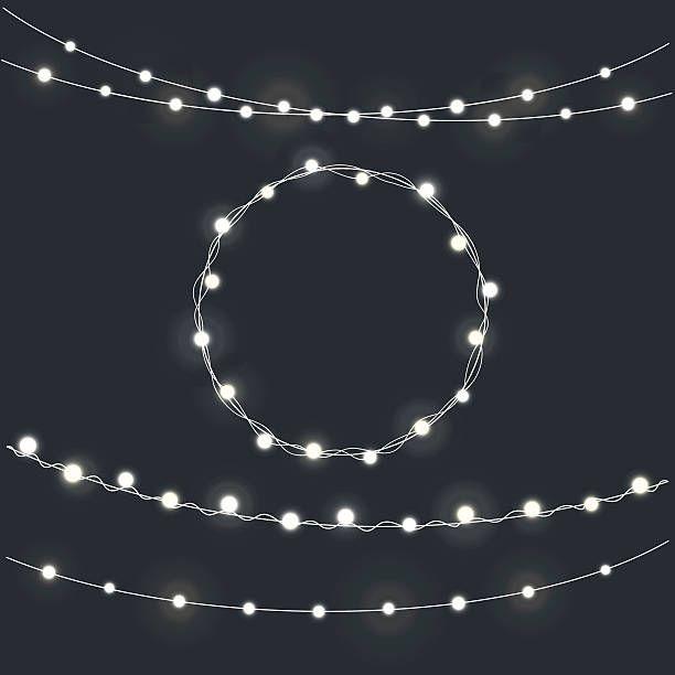 Set Of Garland Christmas Lights Vector Id625460022 612 612 Christmas Lights Christmas Garland Lights