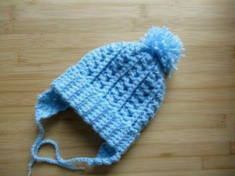 014659b55d8 Crochet Baby beanie hat Newborn 12