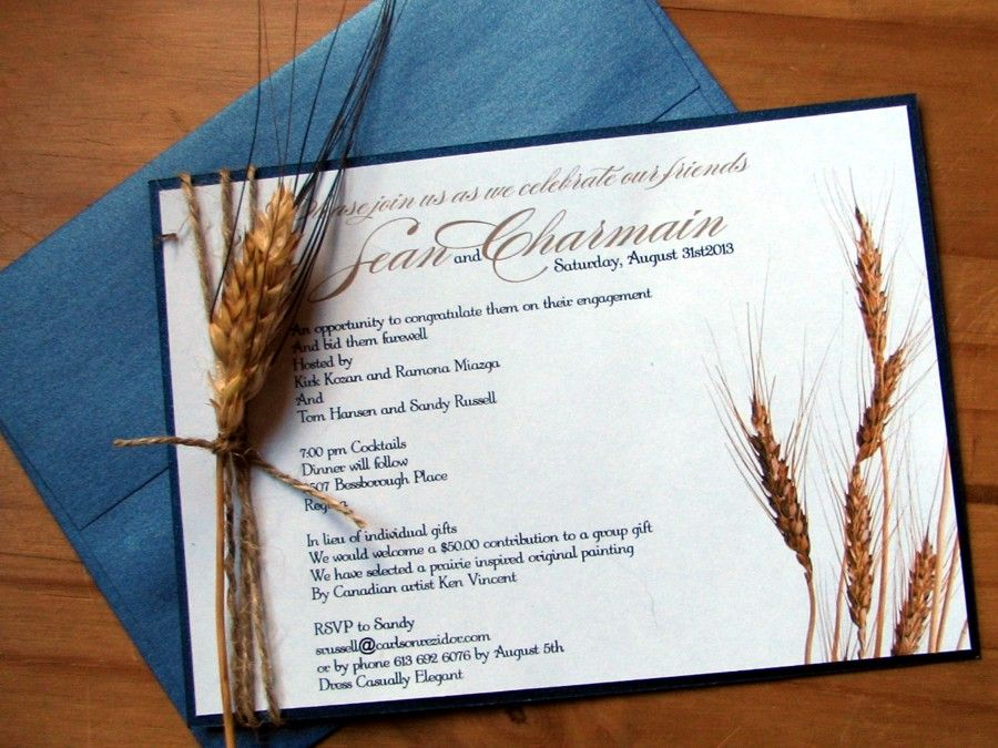 Image result for real wheat stalk wedding invitation
