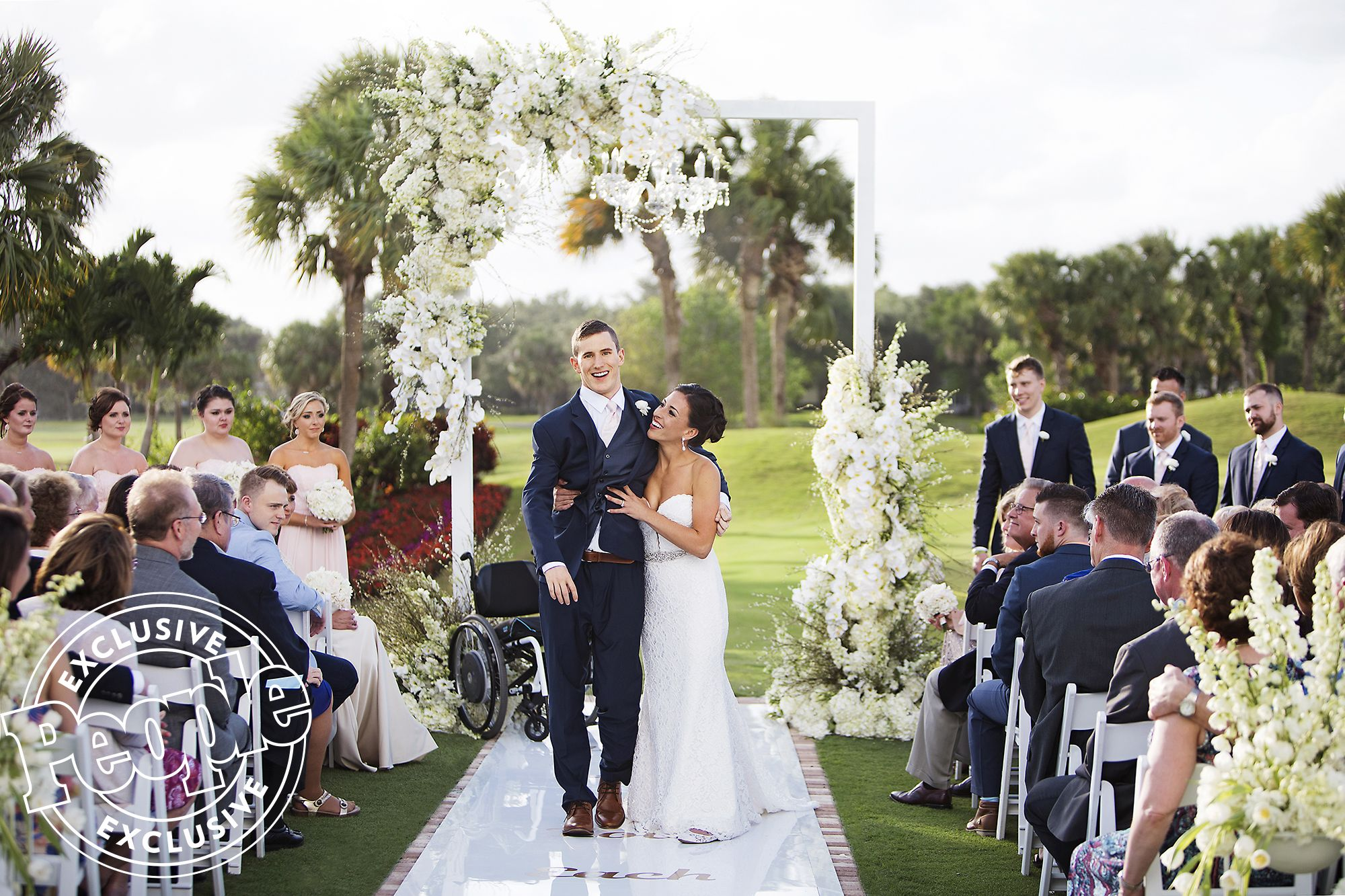Watch Groom Paralyzed Playing Football Walks Down The Aisle The Accident Brought Me To Her Bride Wedding Wedding Video
