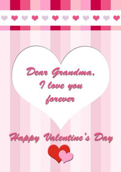 Free printable Valentines day card for Grandma myfree – Valentine Cards.com