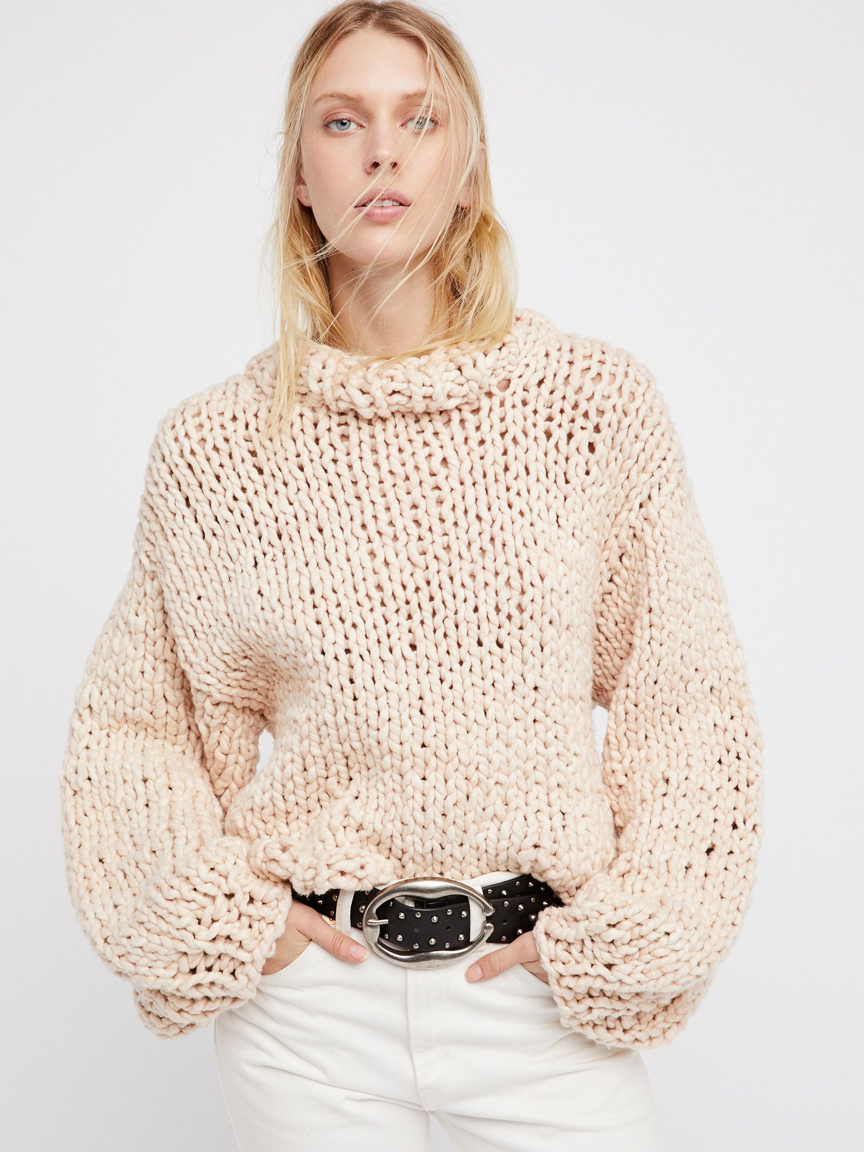 Summer Sweater | Cozy up in this this super chunky cotton sweater ...