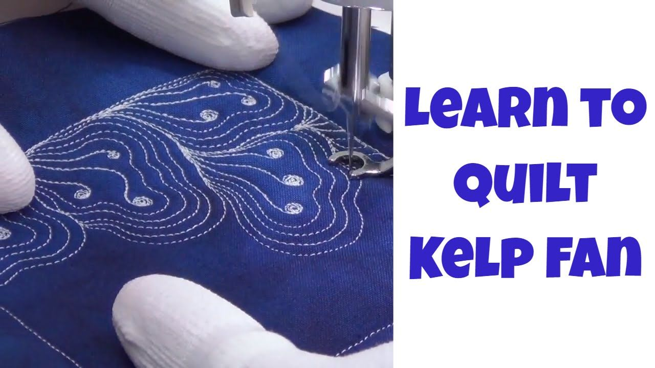 Learn how to quilt a beautiful new design called Kelp Fan with ... : learn how to quilt online - Adamdwight.com