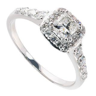 Fraser Hart 18ct White Gold 081ct Diamond Cluster Engagement Ring