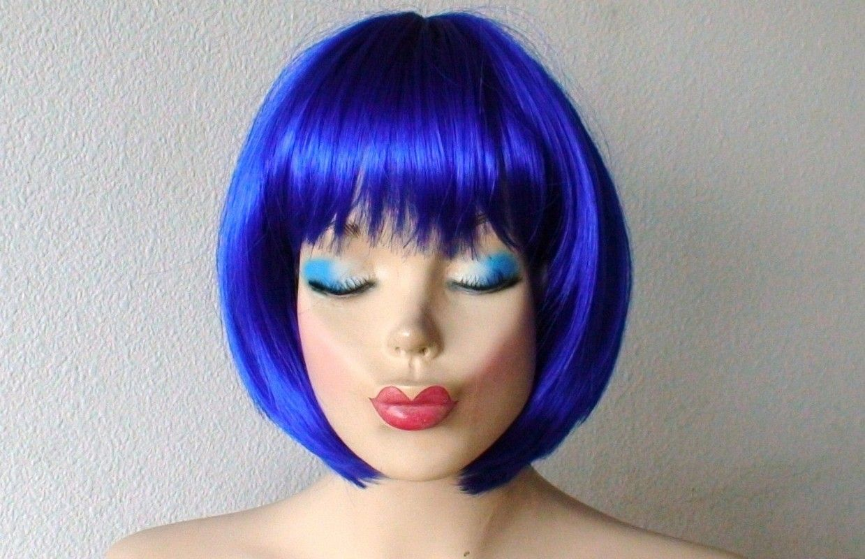 Blue wig hairextensions virginhair humanhair remyhair colored