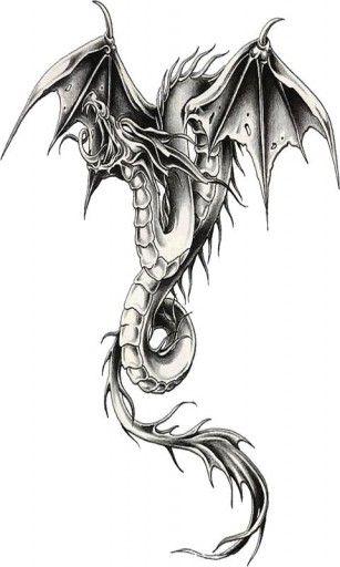 B W Dragon Live Wallpaper For Android Tatuaż Na Rękę
