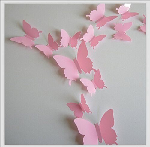 Bedrooms · Romantiko 12 Pcs Fashion 3D Butterfly Wall Stickers ... Part 97