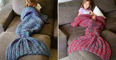 tricot couverture queue de sirène