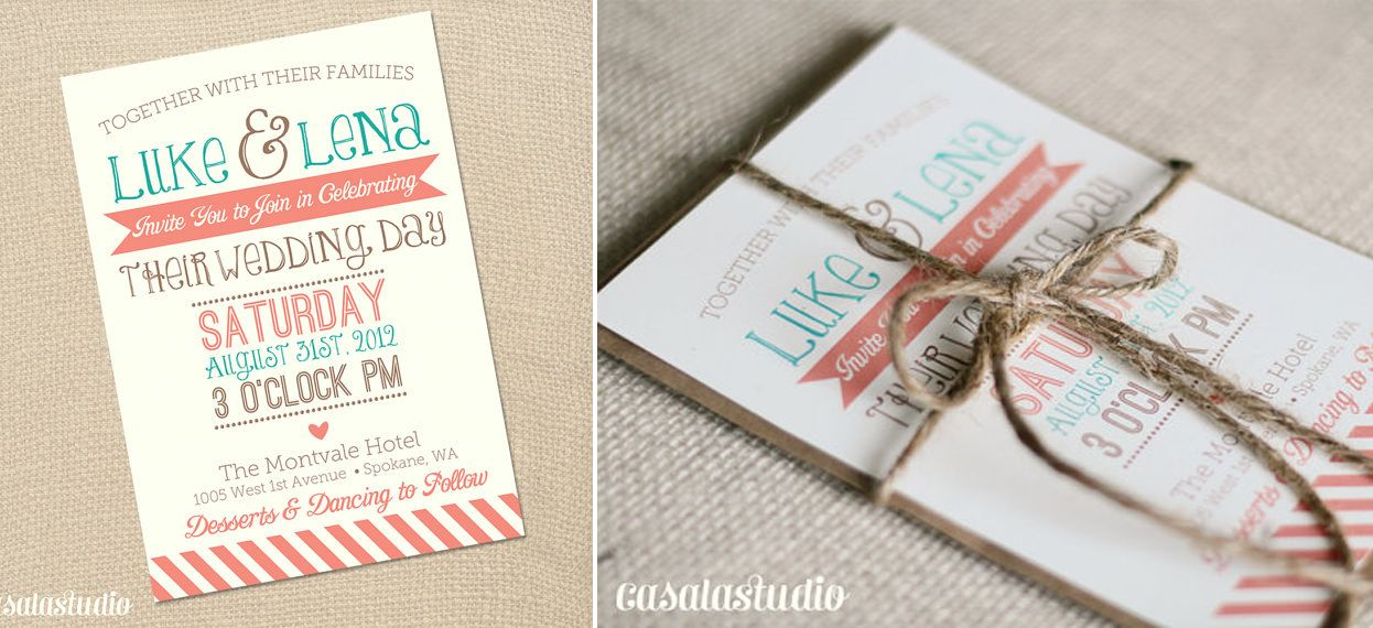 Coral and Aqua decor Turquoise and Coral Wedding Inspiration