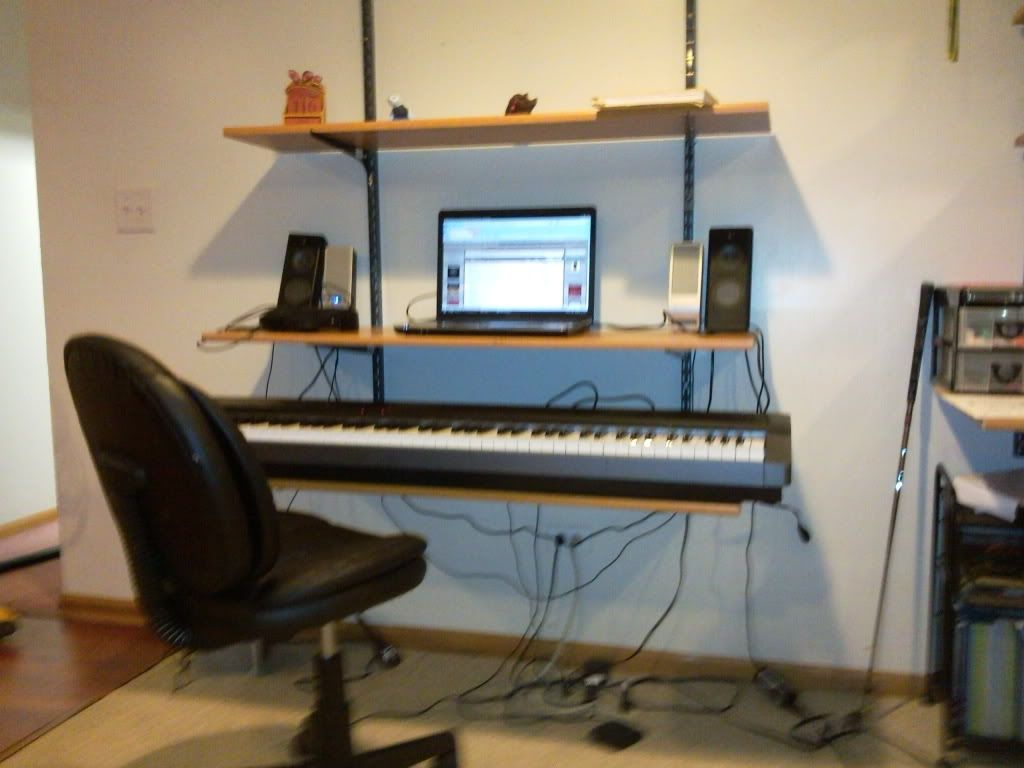 Low-cost shelf for laptop above DP?   Adult Beginners Forum   Piano World Piano & Digital Piano Forums