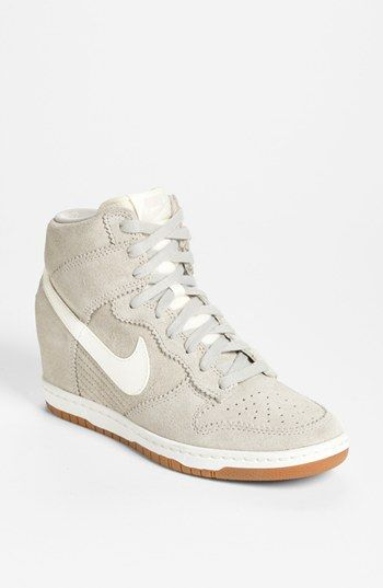 new style fbbdf 00160 Im obsessed with wedgesneakers Nike Dunk Nike Nike Dunk Sky Hi Essential  Leather Sneakers ...