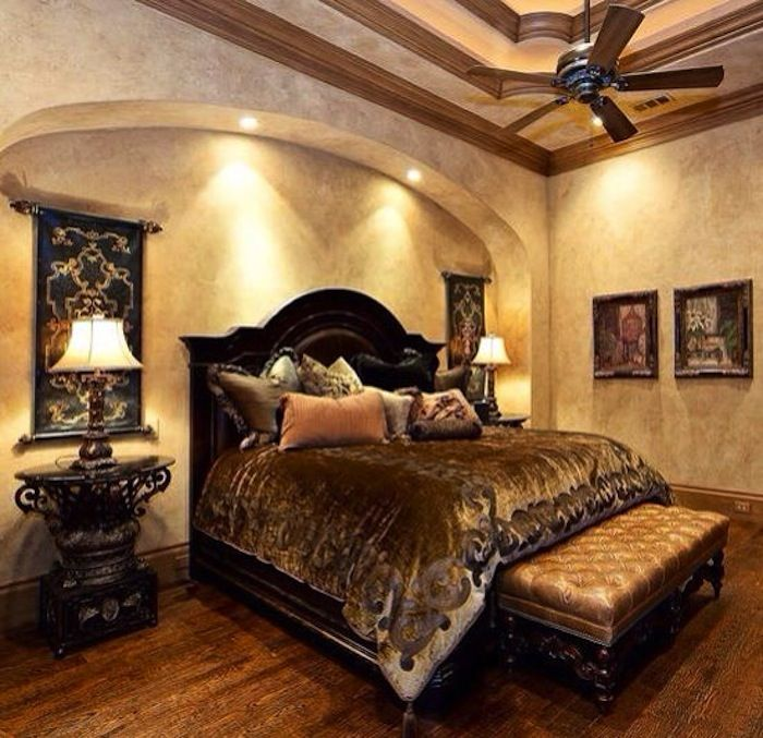 Inviting Old World Style Bedrooms | Bedrooms, Master bedroom and ...