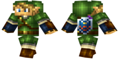 Link Minecraft Skin Download Link Is A Main Character Of Zelda Series He Is Constantly Dressed In Green Link Minecraft Skin Minecraft Skin Minecraft Skins