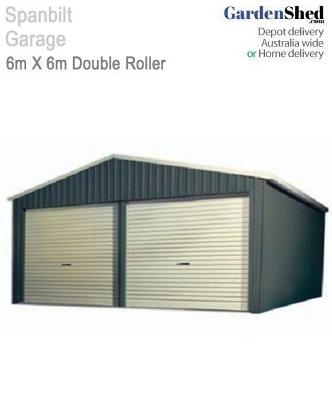 Spanbilt Double Garage 6m X 6m - 2.7 Wall