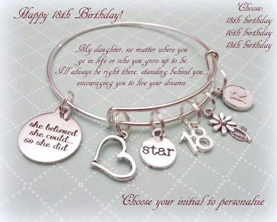 Birthday Gift For Daughter Happy By HopeisHipJewelry