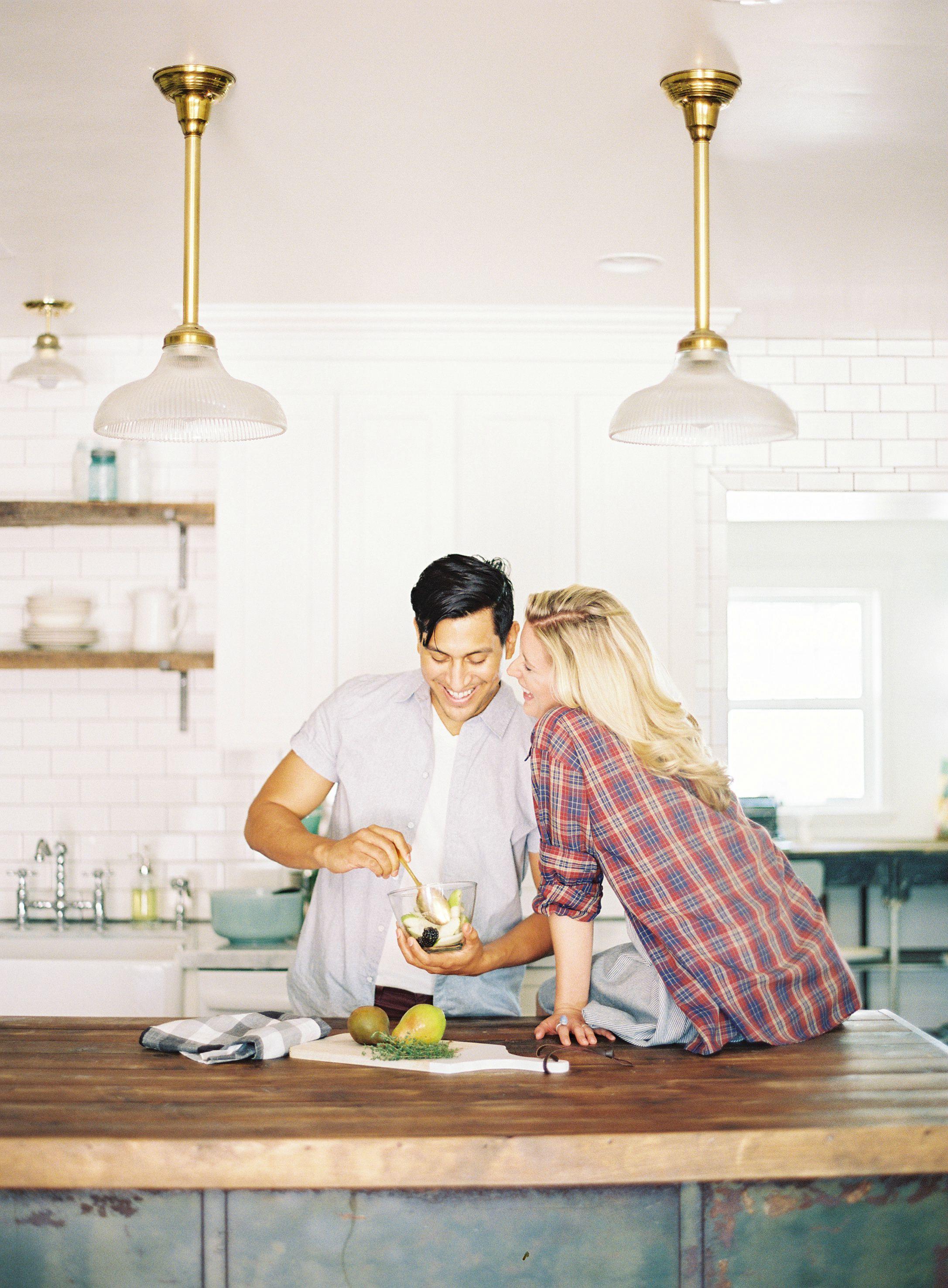 Kitchen Engagement Shoot Engagement couple, Alternative