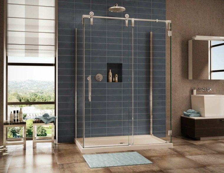 Baños modernos con ducha - cincuenta ideas estupendas | Pinterest ...