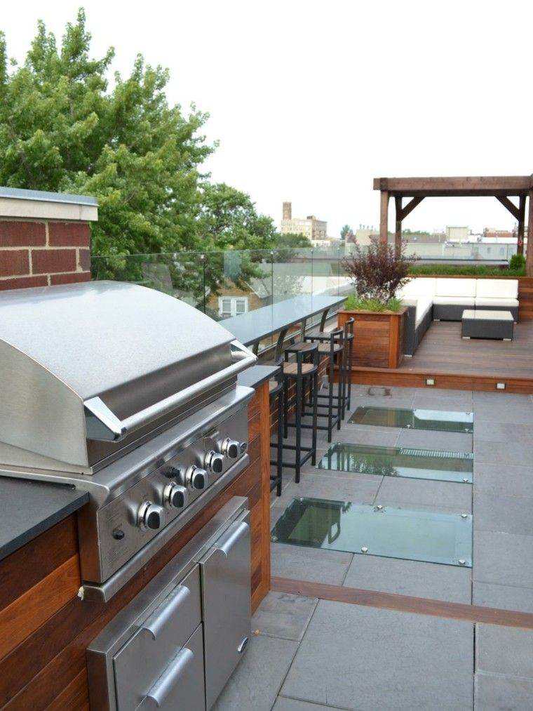 Cocinas modernas para el aire libre 50 ideas exquisitas Barbecue area