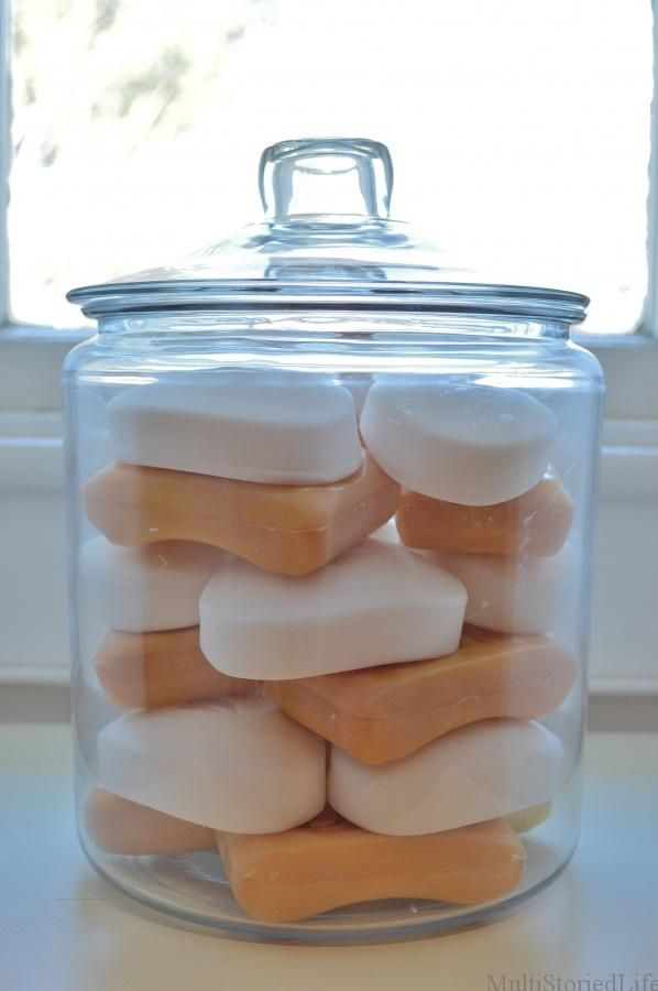Bathroom Soap Jar White And Yellow