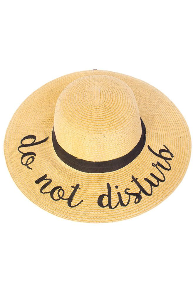 CC Exclusives Hello Sunshine Straw Floppy Hat for Women ST-2017-HELLOSUNSHINE   4d9be0ebe568