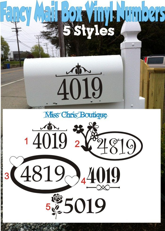 Image of: 2 Inch Mailbox Numbers White
