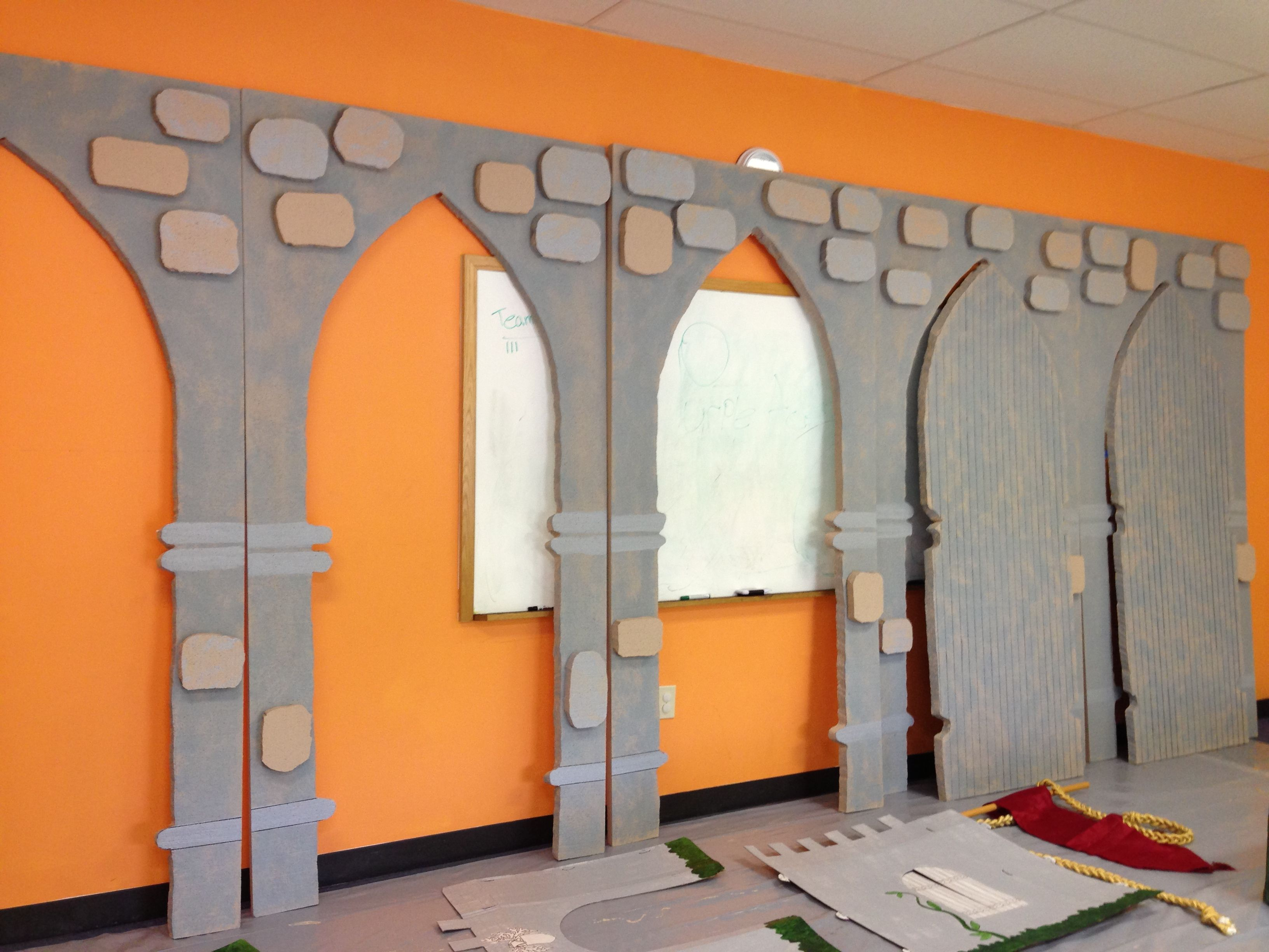 arches and doors partially completed | bible: vbs decorations and