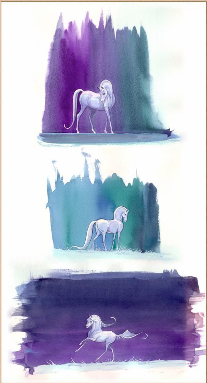 Lena Furberg white horse