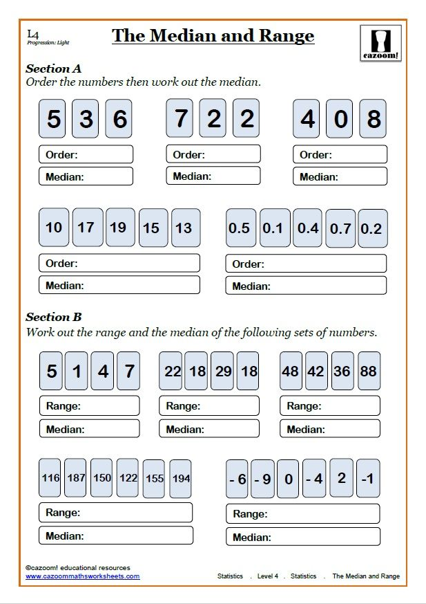 Mean Median Mode Range Worksheet | Pinterest | Math worksheets ...