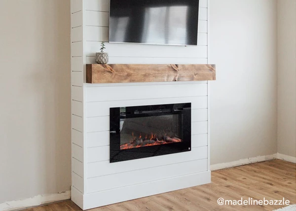 Diy Electric Fireplace Installations In Modern Farmhouse Style Linear Fireplace Built In Electric Fireplace Modern Farmhouse Style