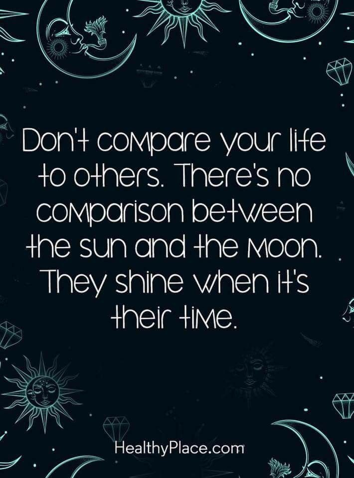 Speed Dating   Positive Quote: Dont Compare Your Life To Others. Theres No  Comparison Bet