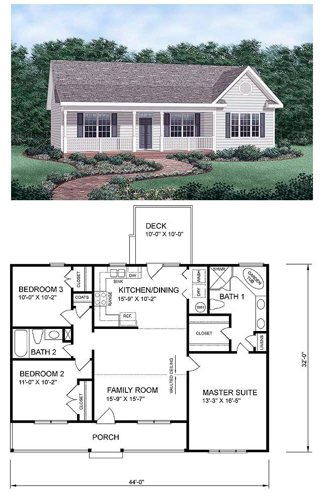 Ranch House Plan Room Separating Square Feet And Ranch