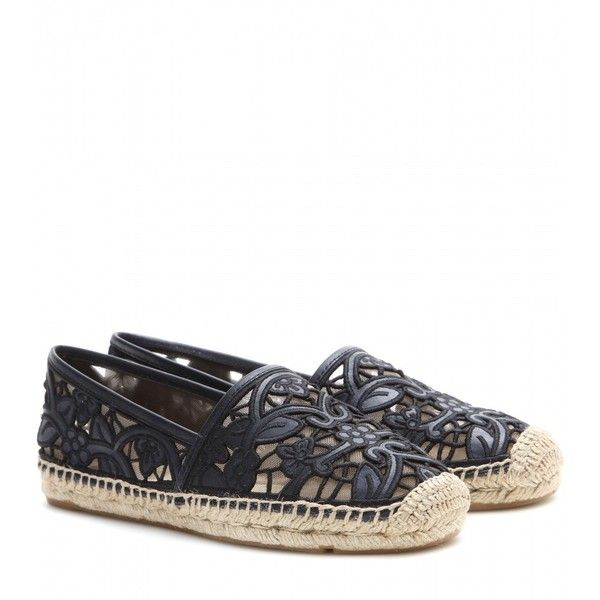 Tory Burch Lucia Espadrilles ($237) ❤ liked on Polyvore featuring shoes,  sandals,