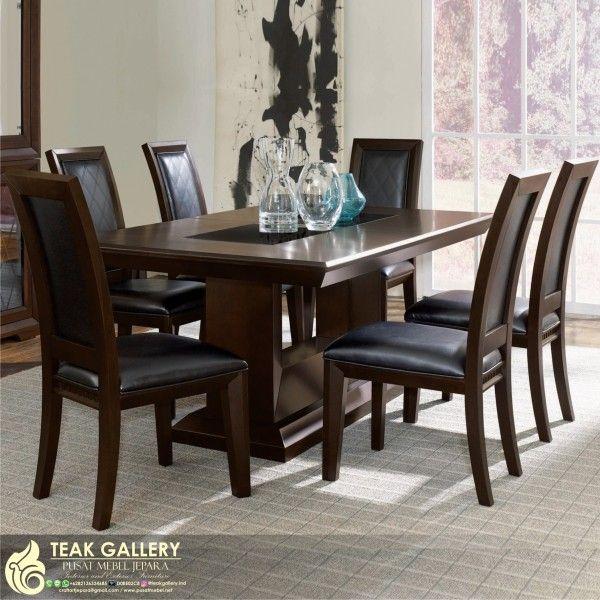 Meja Makan Minimalis Klasik Modern Furniture Jepara Harga Set Murah