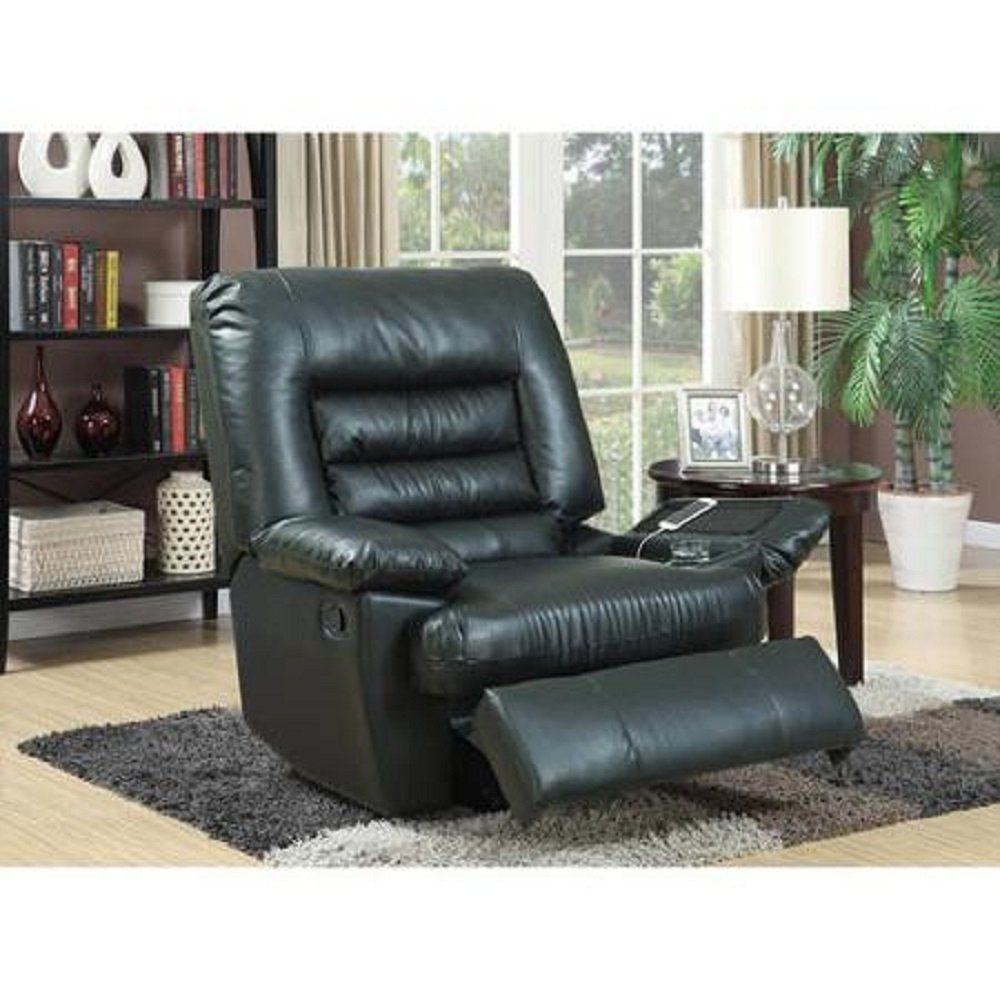 Best Serta Big Tall Memory Foam Massage Recliner Black 400 x 300