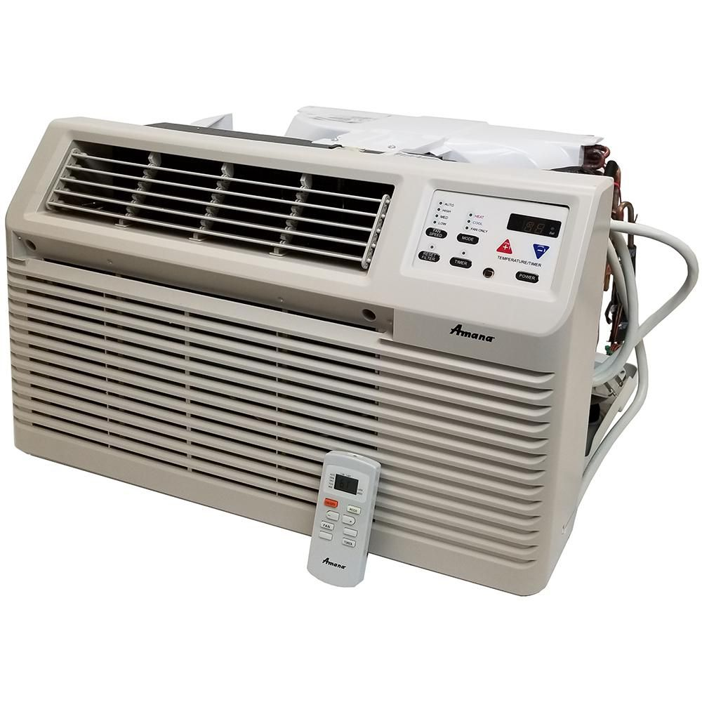 Amana 9 300 Btu 230 Volt 208 Volt R410a Through The Wall Air Conditioner With 3 5 Kw Electric Heat And Remote Pbe093g35cc Air Conditioner Heater Air Conditioner With Heater Air Conditioning Units