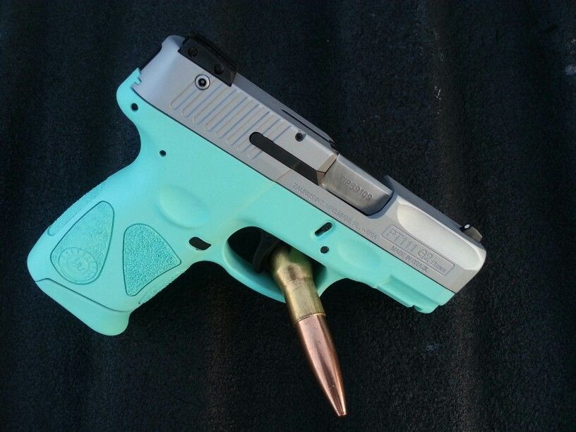 Taurus PT111, Tiffany blue and stainless  Work by AZ Liquid Images