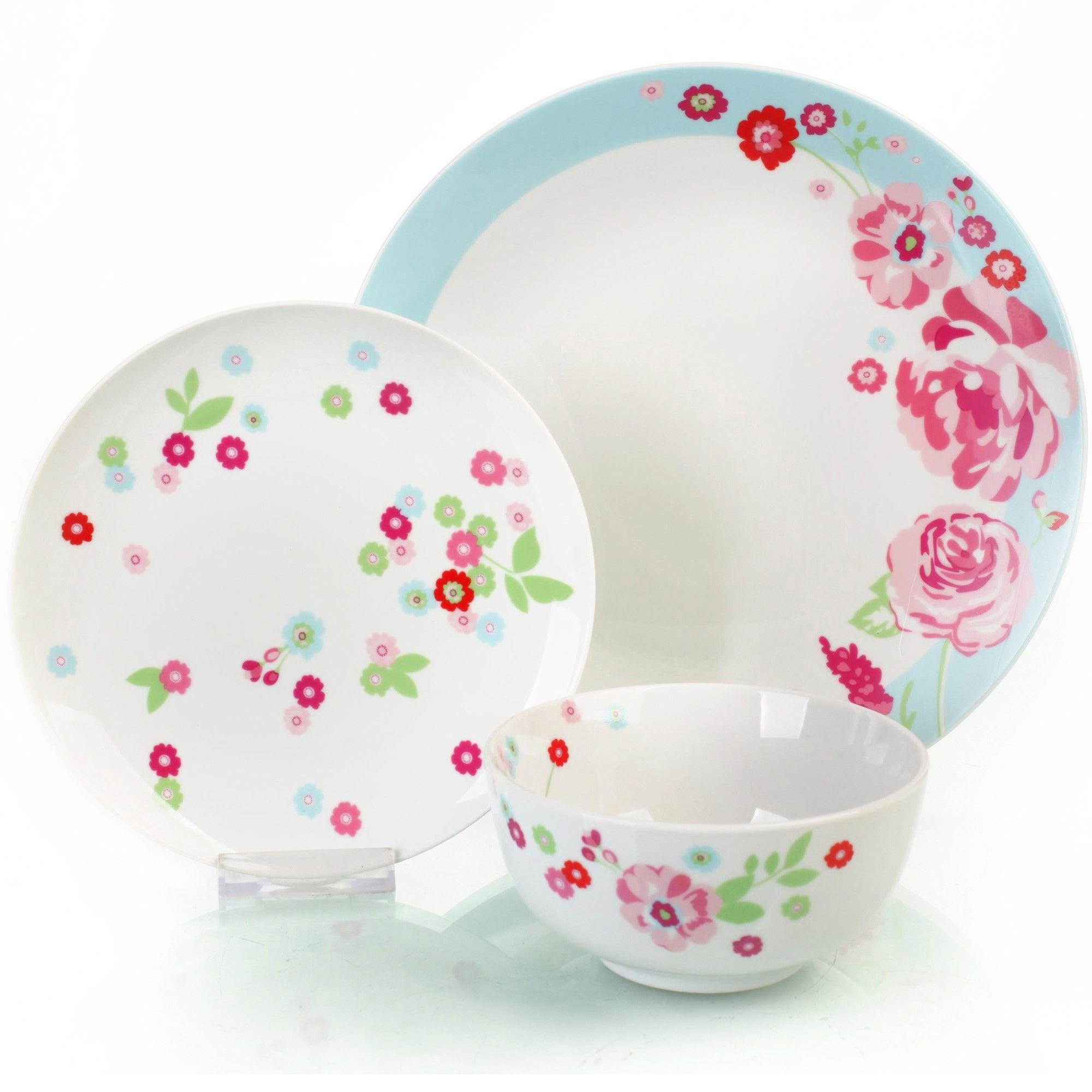 Buy Sabichi Dahlia Porcelain 12 Piece Dinner Set From Our Dinner Sets Range  At Tesco Direct.