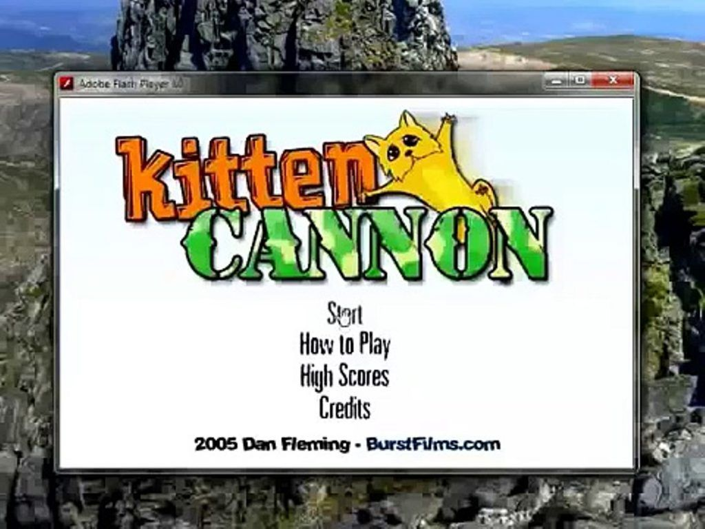 Kitten Cannon Peli Hauskoja Videoita Kissanpennut Pelit