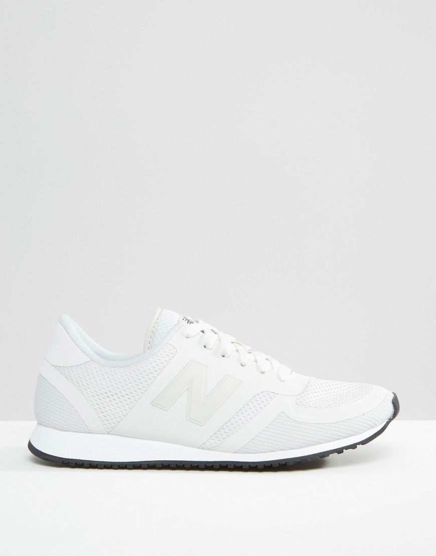 new balance 420 white trainers