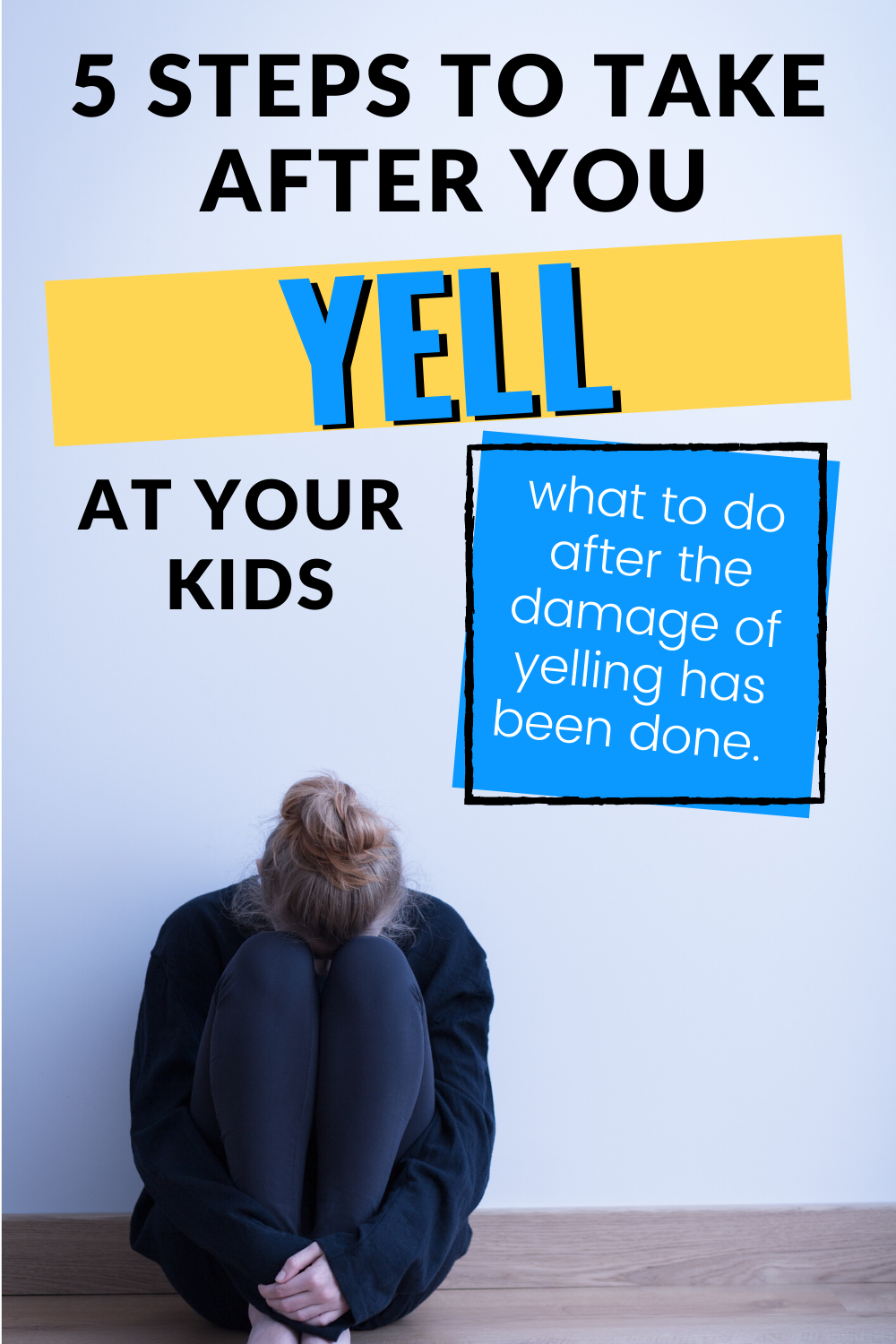 You've yelled at your kids. You feel horrible and guilty. Here's what to do after you yell at your kids. #positiveparenting #adviceformoms #momadvice #kidsandparenting #toddler