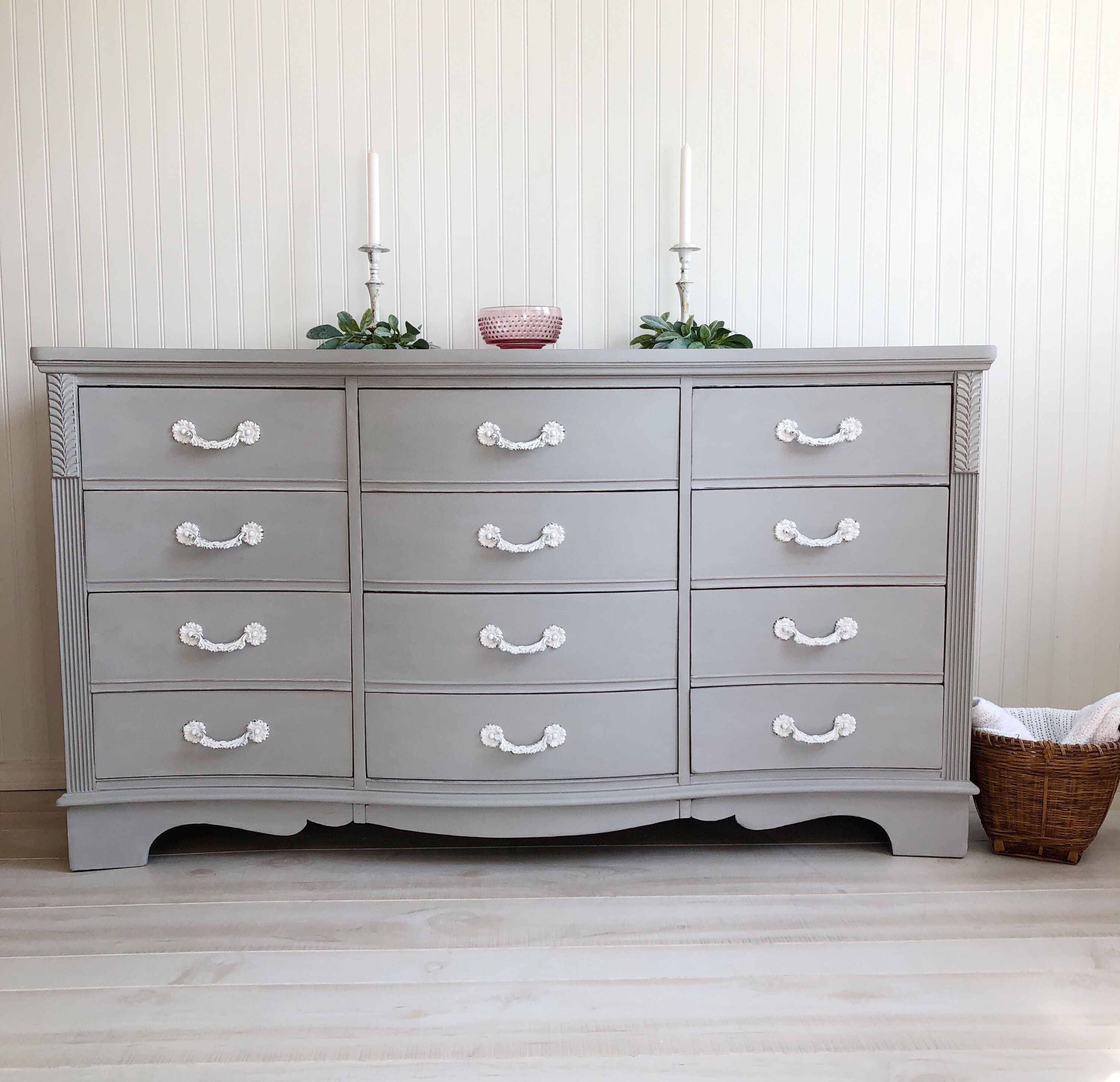 Annie Sloan Paris Gray Chalk Paint Makeover French Provincial Dres Annie Sloan Painted Furniture Painted Bedroom Furniture French Provincial Dresser Makeover