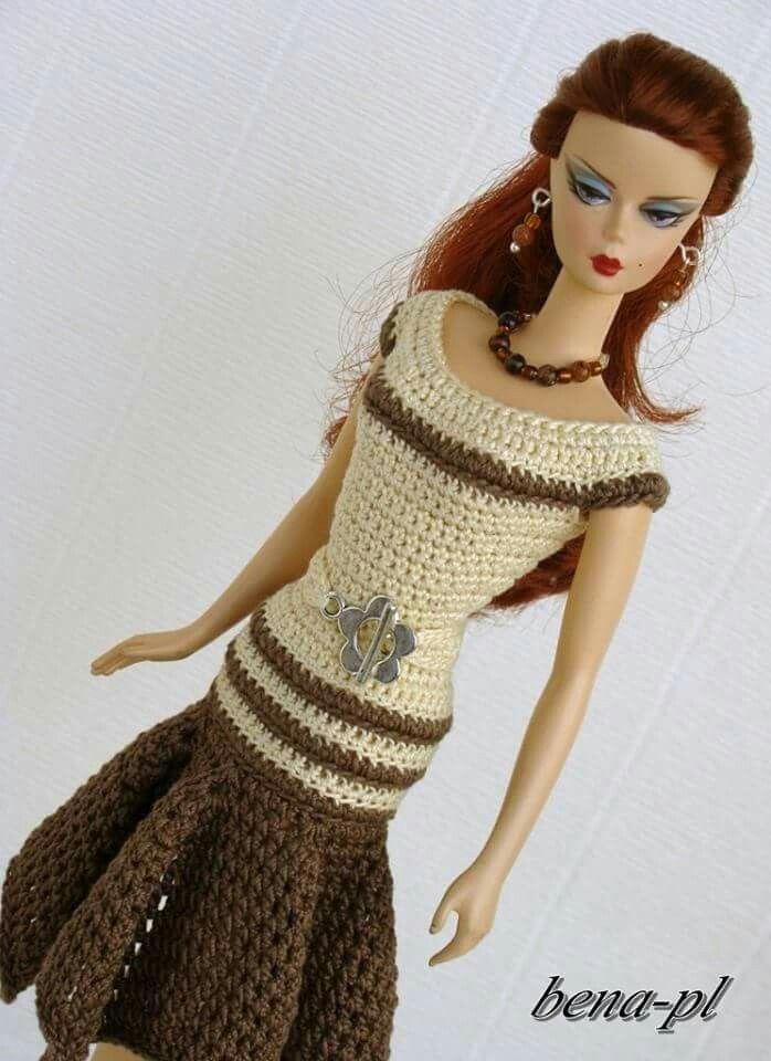 Lujoso Patrones Que Hacen Punto Gratuitas Para Muñecas Barbie ...