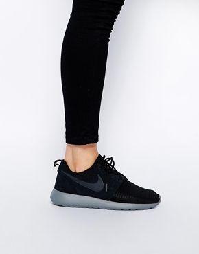 aumentar zapatillas de deporte negras rosherun inverno de nike