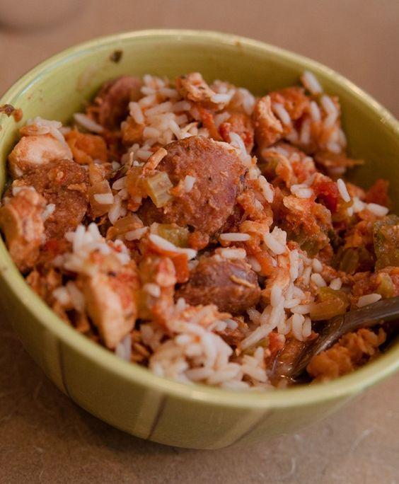 slow cooker jambalaya. P#slowcooker #crockpot #recipes #easymeals #jambalaya