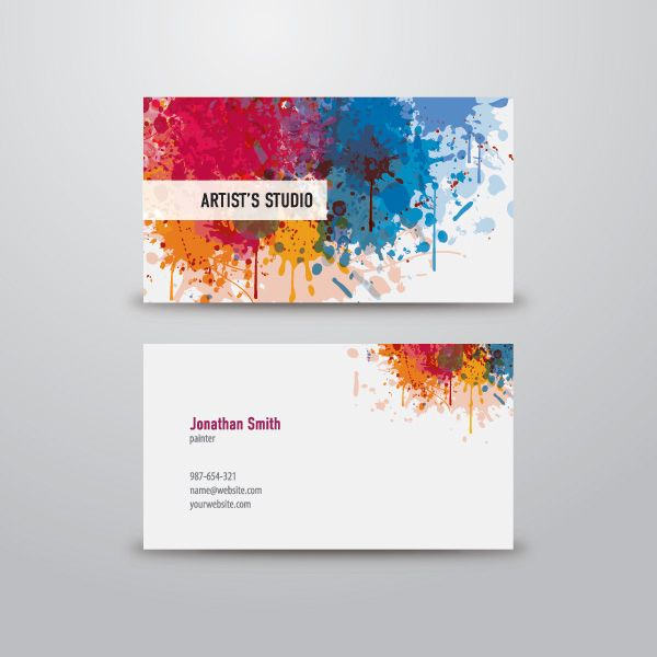 Colorful And Creative Artistic Business Cards Deigned For Painters