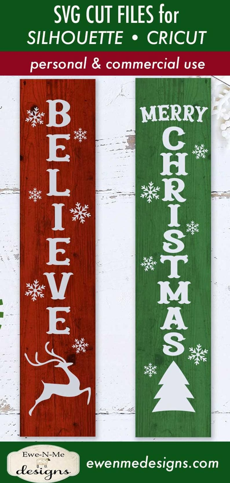Christmas svg Merry Christmas svg Believe svg Reindeer