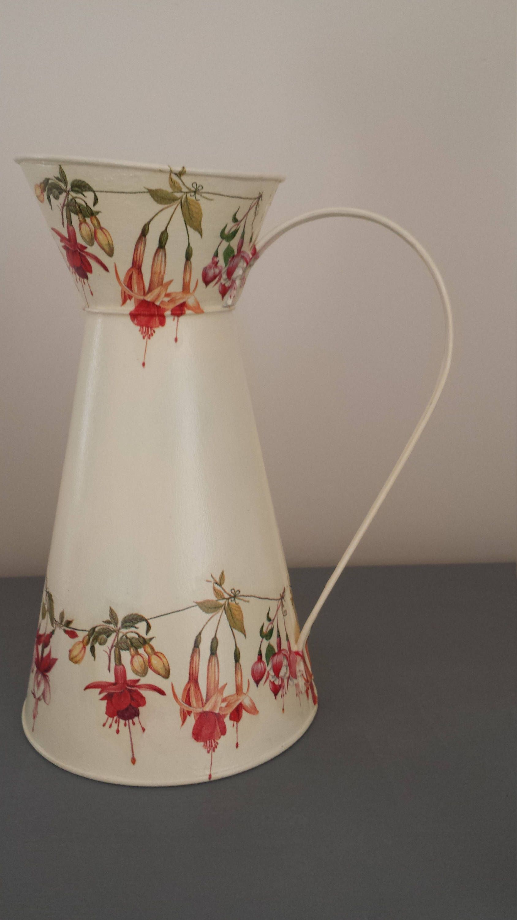 Your Place To Buy And Sell All Things Handmade Jug Decor Decoupage Flower Display