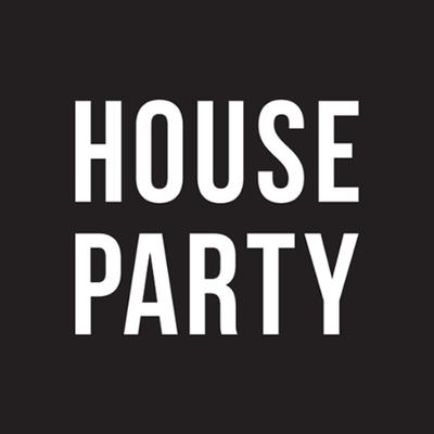 Houseparty Black And White Icon Rot