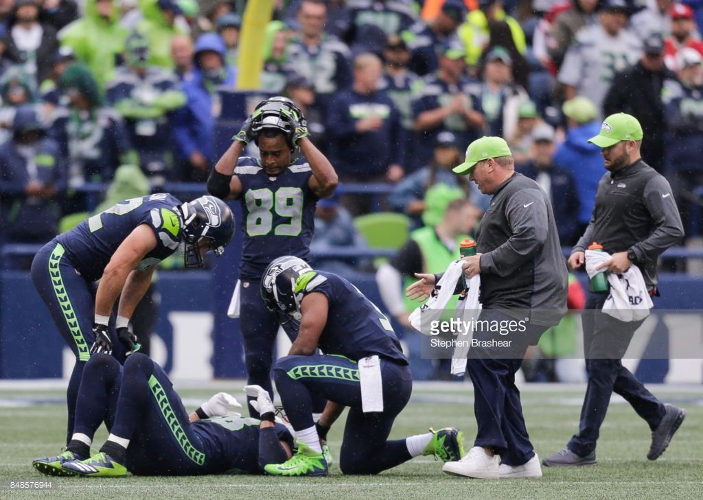 Wide Receiver Doug Baldwin Of The Seattle Seahawks Tight End Luke Doug Baldwin Seattle Seahawks Wide Receiver